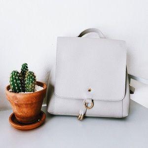 Minimalist Vegan Leather Shoulder Mini Backpack